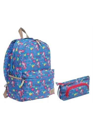 Kaukko Kaukko Unicorn Kız Çocuk İlkokul ve Ortaokul Çanta Seti Renkli